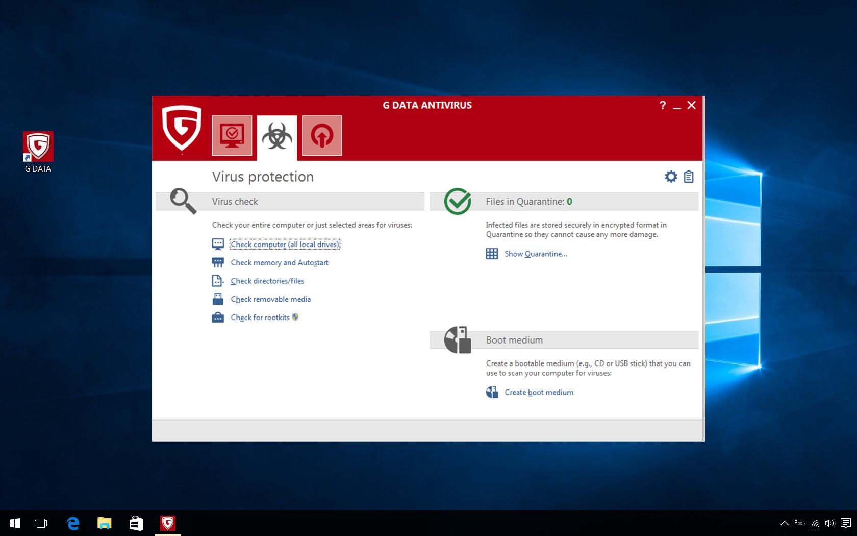 Virus Scans Computer
